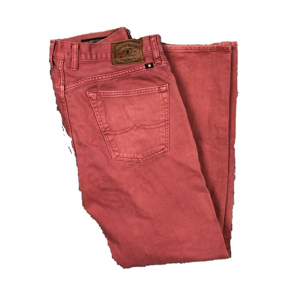 Lucky Brand Other - Lucky Brand 121 Heritage Slim 36 x 32 Red